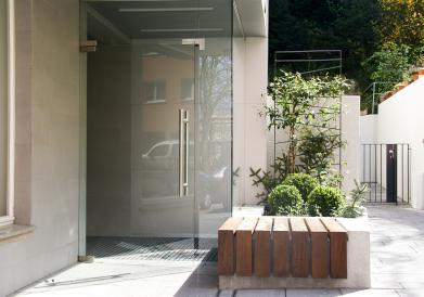 Entrance residential tower